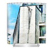 The Noon Sundial At The London Stock Exchange Shower Curtain