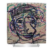 The Nose Knows Shower Curtain by Natalie Holland