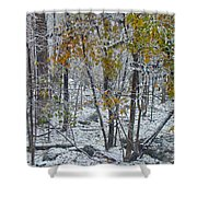 The October Blizzard Begins Shower Curtain