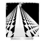 The Office Building Bw Shower Curtain