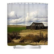 The Old Barn In The Meadow Shower Curtain