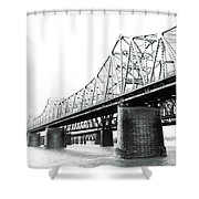 The Old Bridges At Memphis Shower Curtain