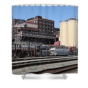 The Old California And Hawaii Sugar Company In Crockett California . C And H . 5d16770 Shower Curtain