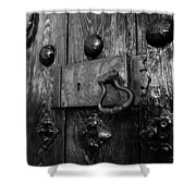 The Old Church Door Shower Curtain