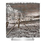The Old Farm Shower Curtain