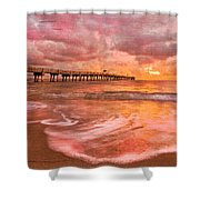The Old Fishing Pier Shower Curtain