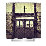 The Old Galisteo Cemetery Shower Curtain