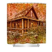 The Old Homestead Shower Curtain