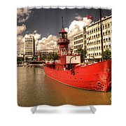 The Old Lightship Shower Curtain