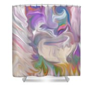 The Old Man Abstract Shower Curtain by Gina Lee Manley
