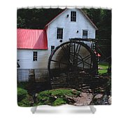 The Old Mill 1886 In Cherokee North Carolina Shower Curtain