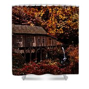 The Old Mill Stream Shower Curtain