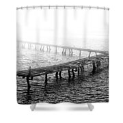 The Old Pier Shower Curtain