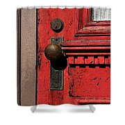 The Old Red Door Shower Curtain