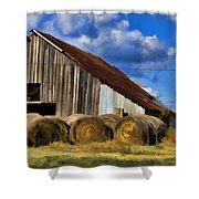 The Old Roadside Barn Shower Curtain