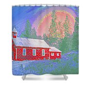 The Old Schoolhouse Library Shower Curtain