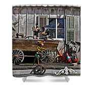 The Old Shed Shower Curtain by Mary Machare