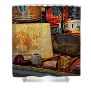 The Old Smoke Shop Shower Curtain