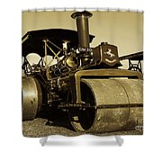 The Old Steam Roller Shower Curtain