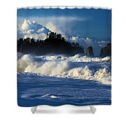The Olympic Blues Shower Curtain