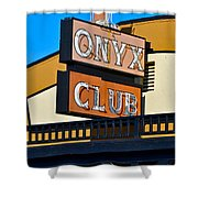 The Onyx Club Shower Curtain