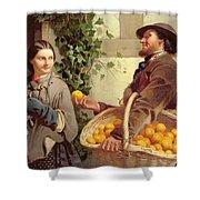 The Orange Seller  Shower Curtain