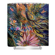 The Orange Wind Can Be Purchased Directly From Www.elenakotliarker.com Shower Curtain