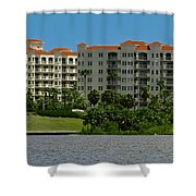 The Ormond Hotel Shower Curtain by DigiArt Diaries by Vicky B Fuller