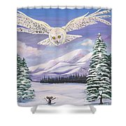 The Owl And The Rat Shower Curtain by Phyllis Kaltenbach