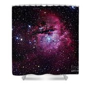 The Pacman Nebula Shower Curtain