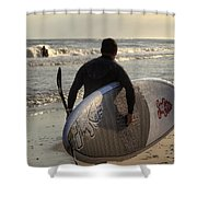 The Paddleboarder Shower Curtain
