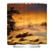The Painting Of The Creator Shower Curtain