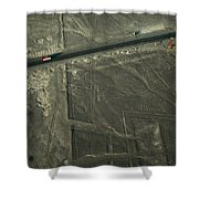 The Pan-american Highway Cuts Shower Curtain