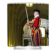 The Papal Swiss Guard Shower Curtain