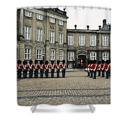 The Parading Of The Guards Shower Curtain