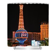 The Paris At Night Shower Curtain