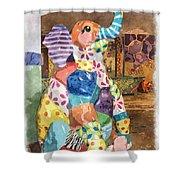 The Patchwork Elephant Art Shower Curtain