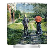 The Path Uphil Shower Curtain