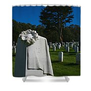 The Patriot And The Cypress Shower Curtain