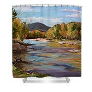 The Pemi In Autumn One Shower Curtain