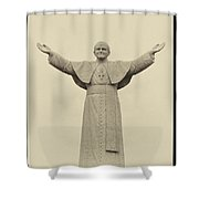 The People's Pope - John Paul II Shower Curtain by Bill Cannon