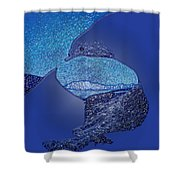 The Perfect Wave Two Shower Curtain