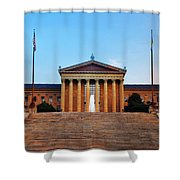 The Philadelphia Museum Of Art Front View Shower Curtain