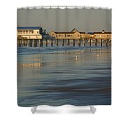 The Pier On Old Orchard Beach Shower Curtain