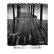 The Pier...protaras Shower Curtain