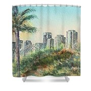 The Pike And Downtown Long Beach Shower Curtain