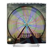 The Pinwheel Glow Shower Curtain