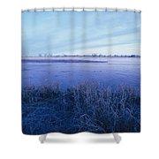 The Platte River In Central Nebraska Shower Curtain