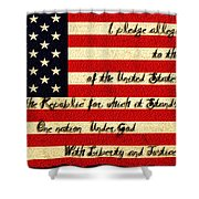 The Pledge Of Allegiance Shower Curtain