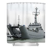 The Polish Lublin-class Minelayer Orp Shower Curtain